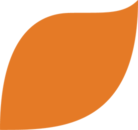 logo orange leaf
